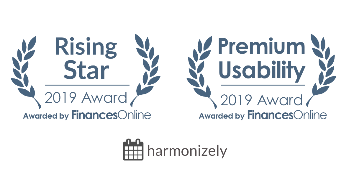 "Harmonizely awarded ""Rising Star"" and ""Premium Usability"" by Finances Online"